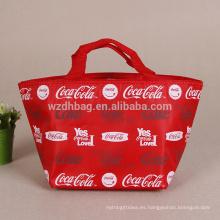 La bolsa de asas barata más barata del refrigerador del poliéster del bolso más fresco promocional para la comida aislada
