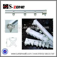SC10 design moderne PVC Rail carré en plastique pour rideau