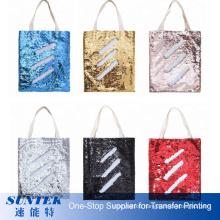 Fashion Design Reversible Sublimation Sequin Glitter Shopping Tote Bag Custom Tote Bag Shoulder Bag