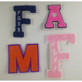 Groothandel Custom Letters chenille patches ontwerpen