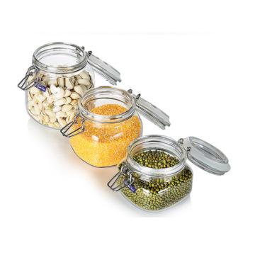 Konservierung Biskuit Glas Lagerung Jar Clamp Jar