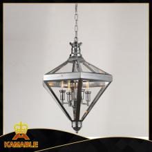 Lámpara colgante de acero de restauración (km0074p-4)