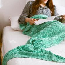 China Softtextile malha de lã cauda de sereia cobertor com 195X95cm
