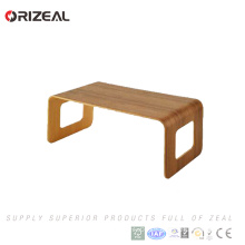 Desktop Laptop Stand Bamboo Wood Computer Monitor Stand For Desk