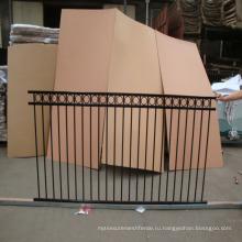 2 или 3 направляющих алюминий / сталь копье верхней и плоской верхней части декоративного забора