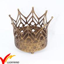 Oro de la Navidad del oro de la vendimia Decoraciones caseras Coronas del metal
