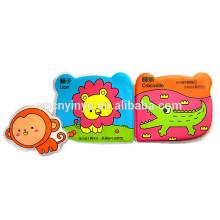 livro de banho do bebê impermeável personalizada, brinquedos para crianças cegas