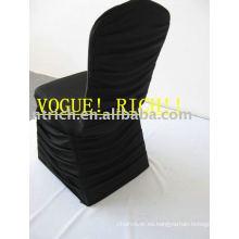 Encantador plisado Spandex Cubiertas de la silla