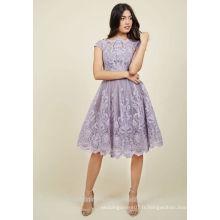 Vente en gros de robes de demoiselle d'honneur en soie élégante Robes de demoiselle d'honneur lilas MB2589