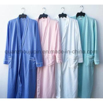 Peignoir coloré d'hôtel de polyester de vente chaude d'OEM