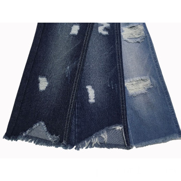Tecido rasgado Denim Wash Dry Wash TC
