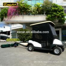 Fertigen Sie elektrischen Golfwagen-Ball des Platzes des elektrischen Golfs des Sitzes zwei ausziehen Karren-Golfballpflücker auf
