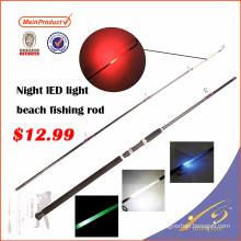 LLR001Nouvelle plage de nuit conduit une canne à pêche légère avec lumière intégrée
