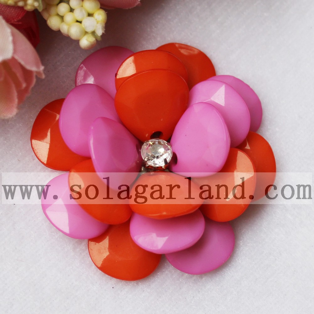 Two-Tone Color Bead Flower