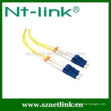 Cabo de remendo óptico da fibra LC da venda quente de Netlink