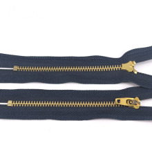 Closed End YG Slider Brass Zipper para jeans