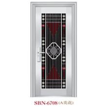 Puerta de acero inoxidable para exteriores (SBN-6708)