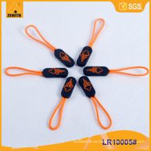 Nuevo estilo con la insignia plástico tirador de cremallera para el equipaje LR10005