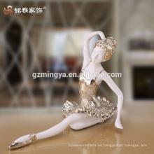 Alta calidad de decoración del hogar alma bailarina arte y artesanía resina material bailarina modelo