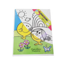 kids coloring painting watercolor canvas board