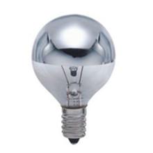 G45 Glühlampe mit silbrigem Spiegel