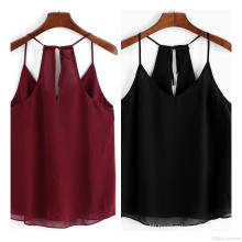 Ladies Summer Top Chiffon Sleeveless Jacket Vest