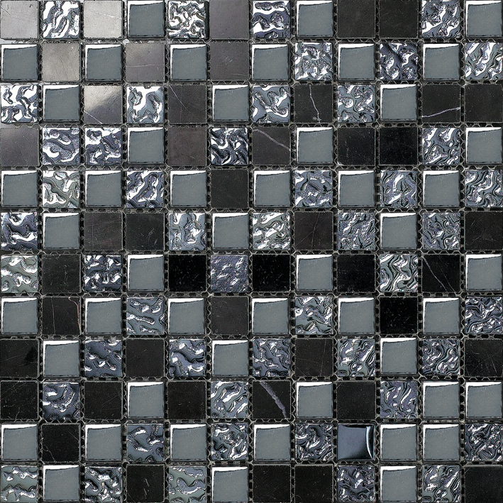 Competitive Price Black Glossy And Bumpy Mosaic