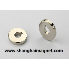 SmCo Cylinder Magnet with Holestrong Sintered Diametrically Magnetized Ring Magnet