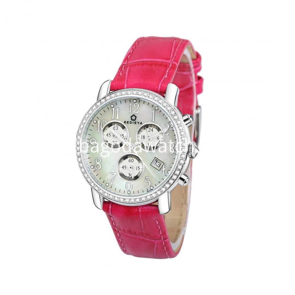 Silver Chronograph Watch Womens