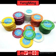 Juego de fichas de Crystal Screen Poker (730PCS) -Ym-Sjsy002