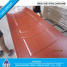 Nuevo diseño de piel de puerta de melamina de Luli Group