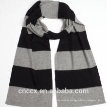15STC2128 stripe cotton cashmere scarf