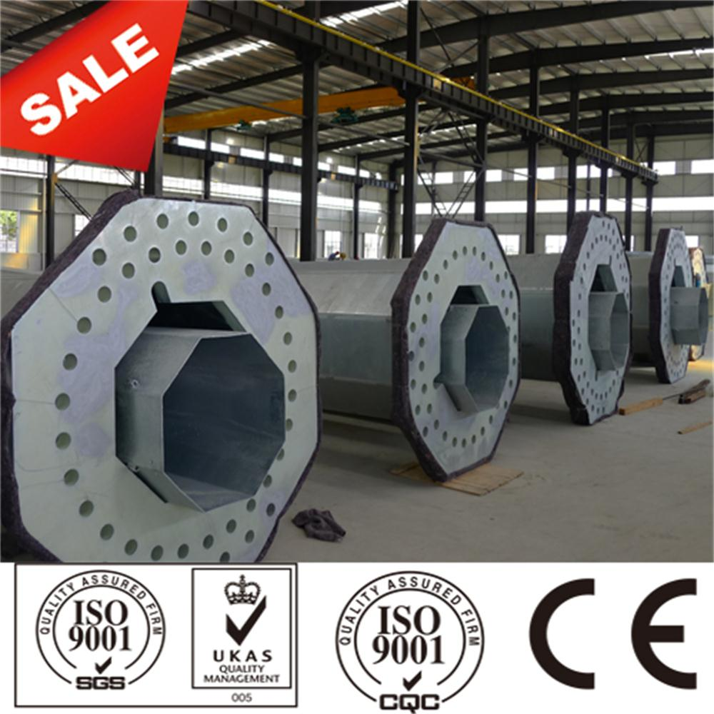 115Kv Galvanized Polygonal Steel Poles