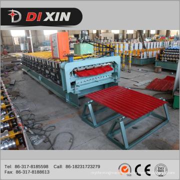 Профилегибочная машина для производства трапециевидных и гофрированных двухслойных валков Dixin