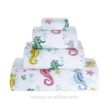 Serviette hippocampes, serviette de bain, serviette de bain Ht-057