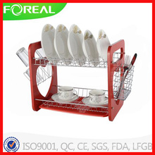 16 Inch Heart Shape Metal Chromed Dish Rack