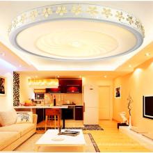 Lâmpada acrílica do teto do diodo emissor de luz do projeto do hotel para decorativo
