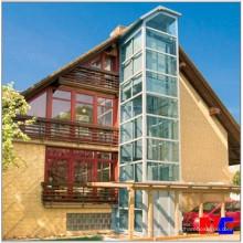 Ascensor barato del hogar del vidrio al aire libre / elevación residencial