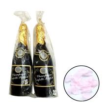 Tipo romántico del artículo del banquete de boda Color personalizado Rose Petal Champagne Bottle Confetti Cannon para la decoración