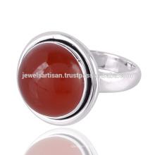 Lovely Red Onyx Edelstein 925 Sterling Silber Ring