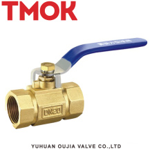 brass color long handle full open brass square ball valve