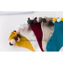 Ball Designs Girl Cotton Socks Cute Little Girl Wear Wholesale Small MOQ Winter Socks