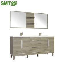 Современный шкаф для ванной комнаты, зеркальный шкаф PB / PVC любого типа на заказ