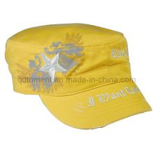 Schleifen gewaschenen Druck Stickerei Armee Military Hat (TRNM016)