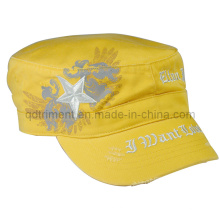 Grinding Washed Printing Embroidery Army Military Hat (TRNM016)