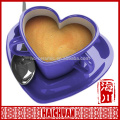 8 oz love porcelain cup and saucer with red heart decal
