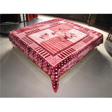 100% polyester super doux imprimé fleur et couverture en polyester peu coûteuse sculptée