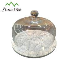 Conjunto de tabla de cortar de queso de mármol de piedra de alta calidad clásica