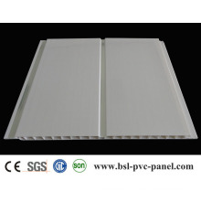 25cm Two Silver Lines PVC Panel with Groove (JT-H-8)
