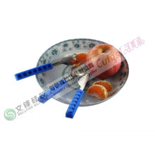 No - Toxic Soft Kitchen Utensils Handle Spoon Fork And Knife Series Design With Lego Block